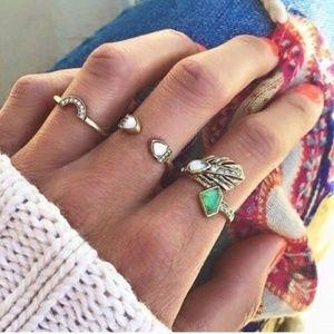 Jewelry | Open cuff opal ring